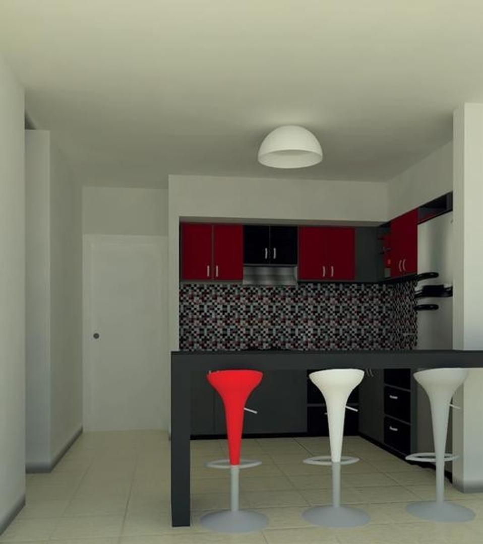 2 ambientes a Estrenar con opción a terraza con parrilla y yacuzzi.