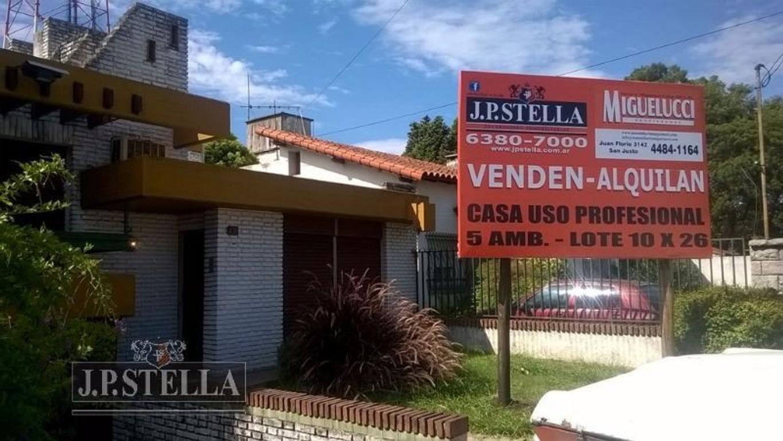 Casa en Venta o Alquiler (Uso profesional) en el centro de San Justo - H. Yrigoyen 2832 - San Justo