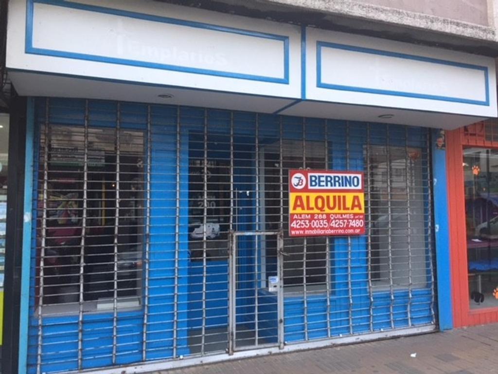 Local de 5,50 x 14 mts. c/deposito - Alem al 200, Quilmes Centro