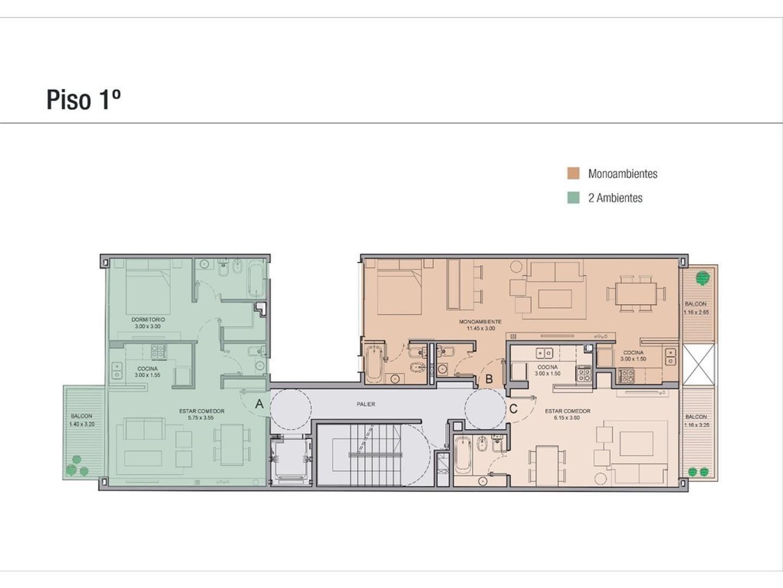 Departamento - 47 m² | 1 dormitorio | A estrenar