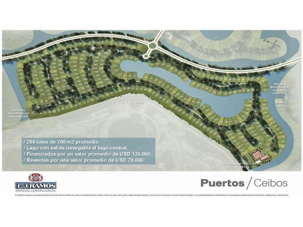 PUERTOS - BARRIO CEIBOS - RAMAL ESCOBAR KM 45 - LOTE 165 - 100