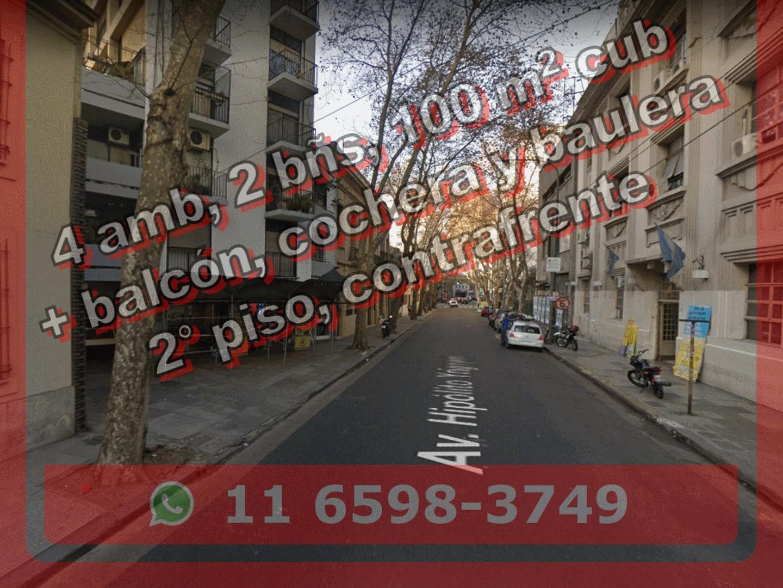 Depto en Venta en Balvanera 4 amb 100 m2 + balcón y cochera c baulera - Hipolito Yrigoyen 3200