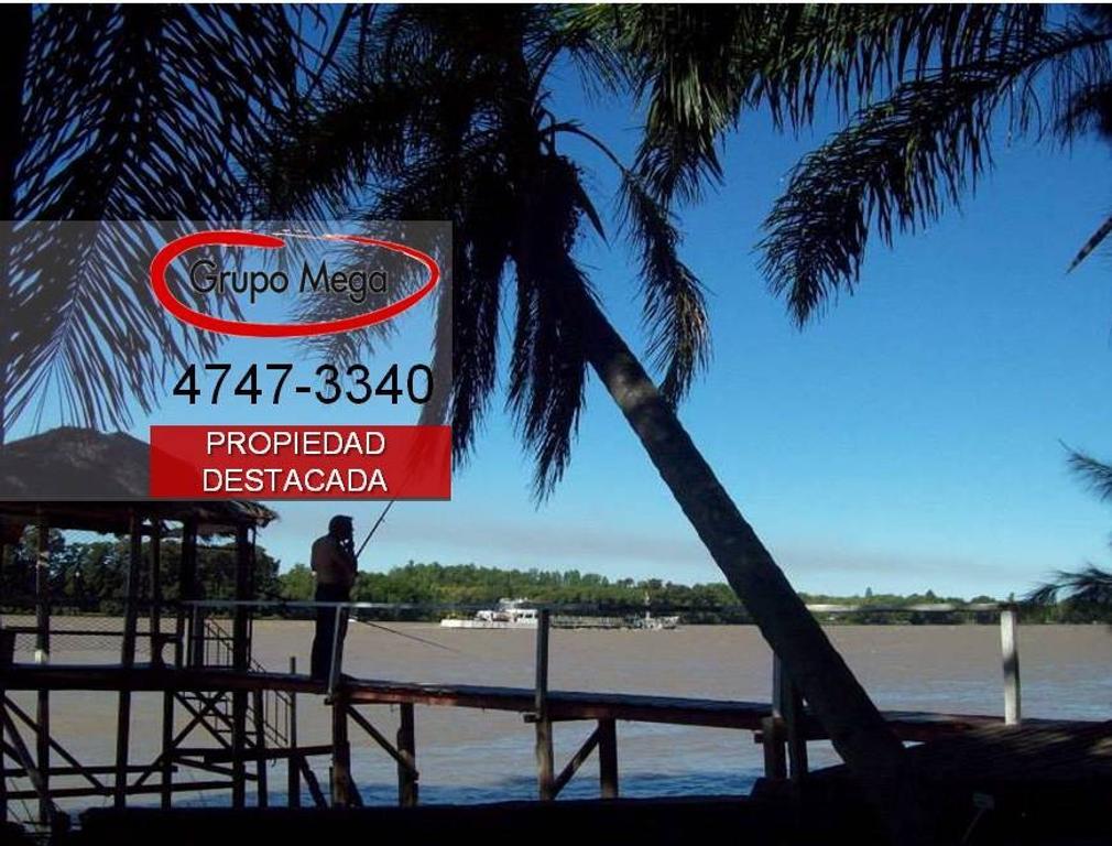 En un verdadero Paraíso Ecológico Únicas 3 hectáreas sobre el Paraná de las Palmas en Escobar