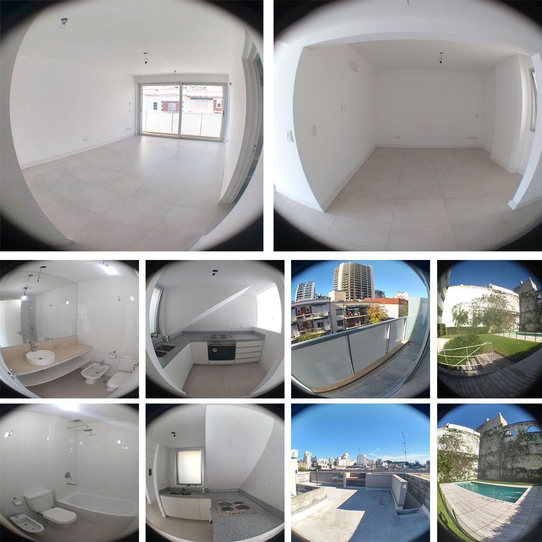 Virtuoso departamento de 2 ambientes con terraza privada y amenities.