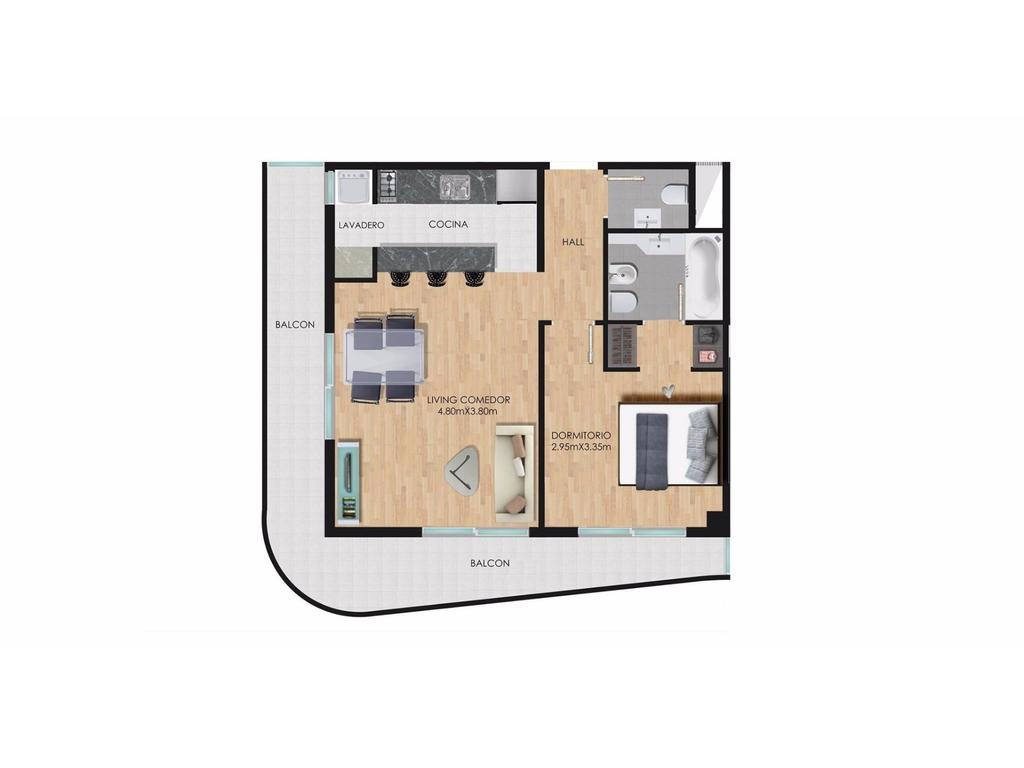 Departamentos de 2 ambientes TORRE GIGA con posibilidad de adquirir cochera.