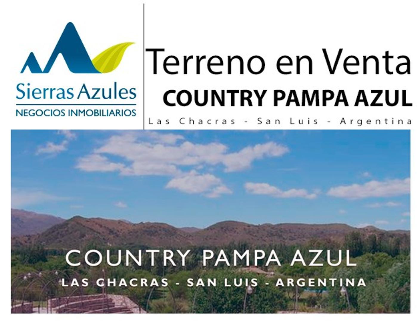 Venta de lote en country Pampa Azul, San Luis, capital.