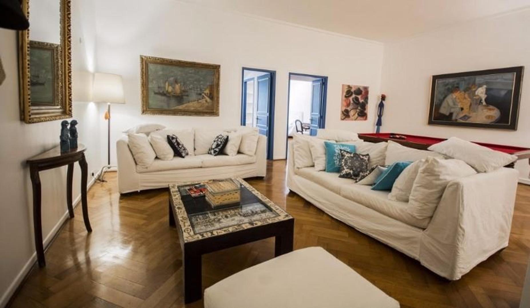 Recoleta Excelente Semipiso 140m2 2 Dormitorios Amoblado y equipado. 2 baños. Gimnasio