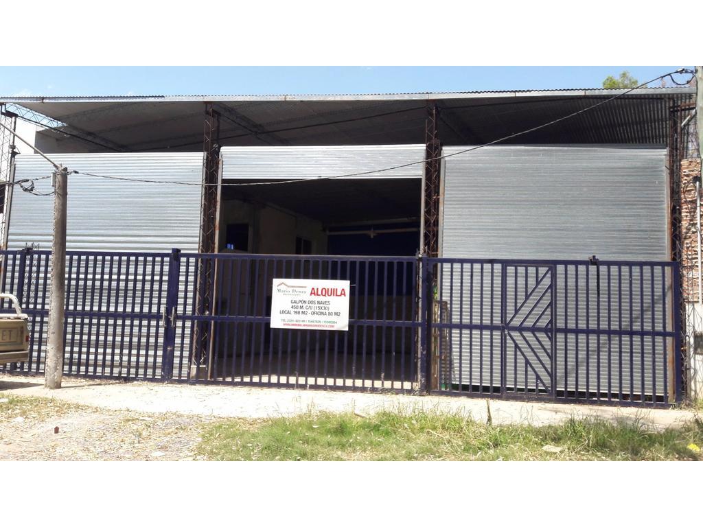 Alquiler de Galpón en Av. 2 y Ruta 5, 900 m2 más oficina y local. Mercedes (B)