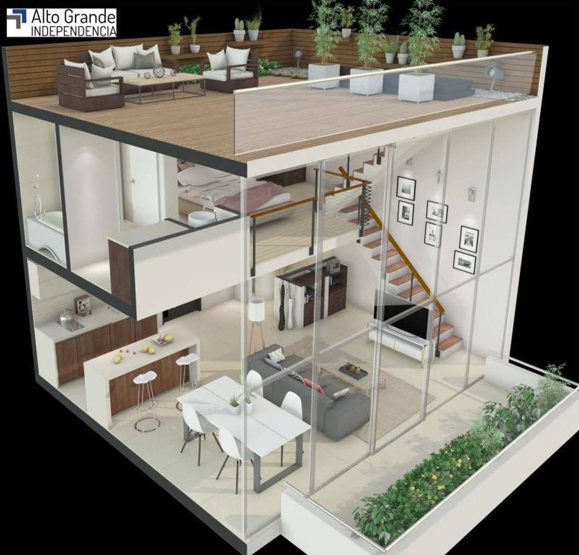 Duplex con terraza propia Venta  2 ambientes con Balcón y terrazas propios a metros Facultad de Ing