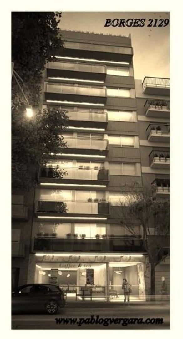 BORGES 2100 piso 1 B, Palermo Soho. 3 ambientes. Financiación