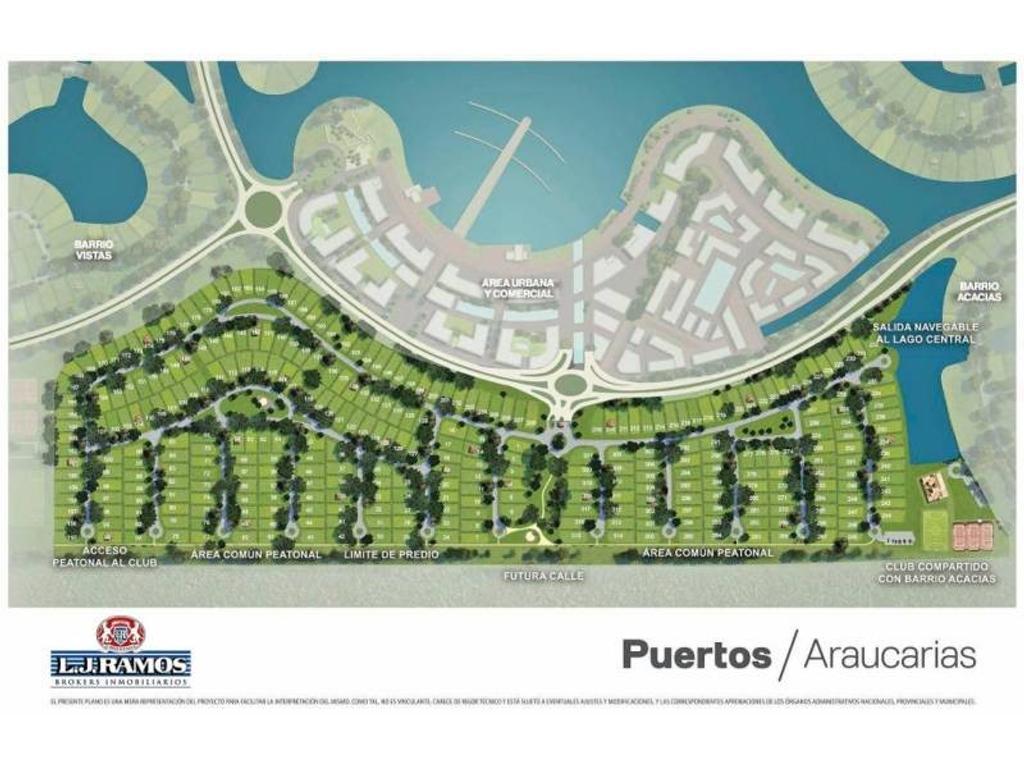 PUERTOS - BARRIO ARAUCAURIAS - RAMAL ESCOBAR KM 45 - LOTE 155 - 100