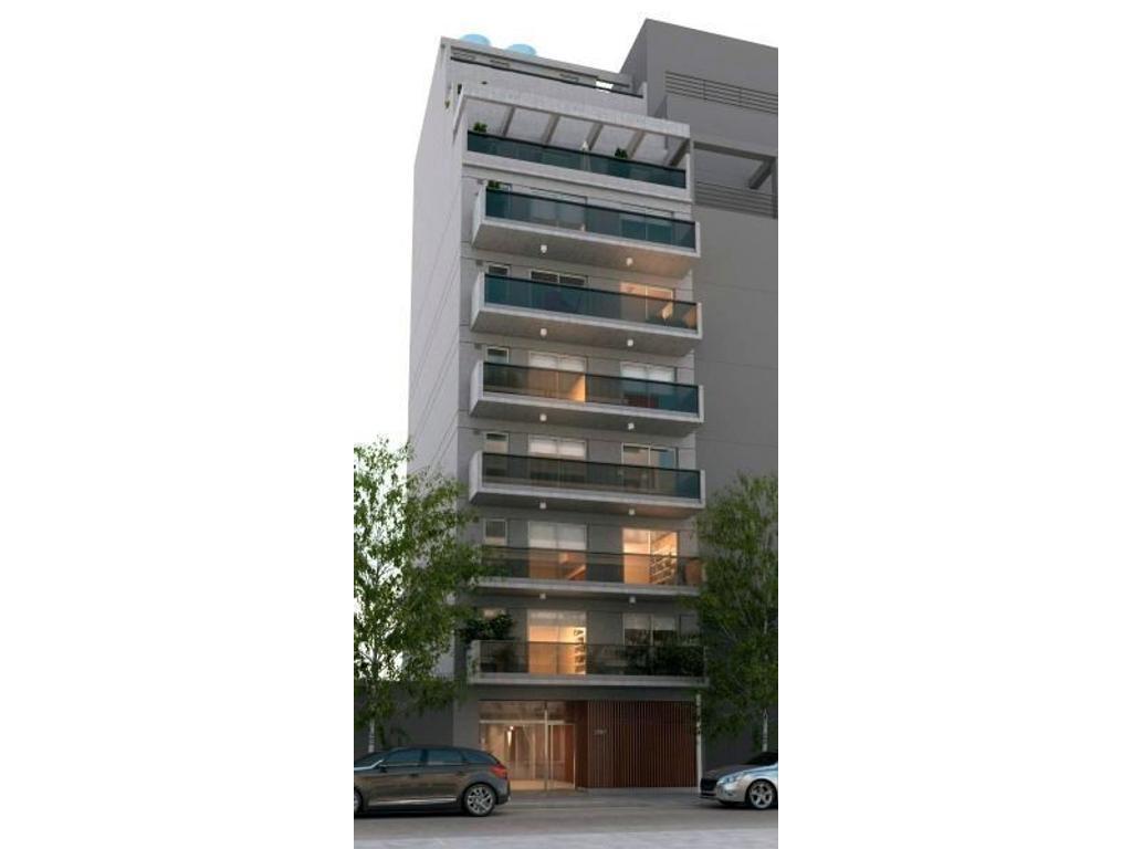 Exc piso 3 amb, balcón terraza, toilette, baulera, cochera optativa.
