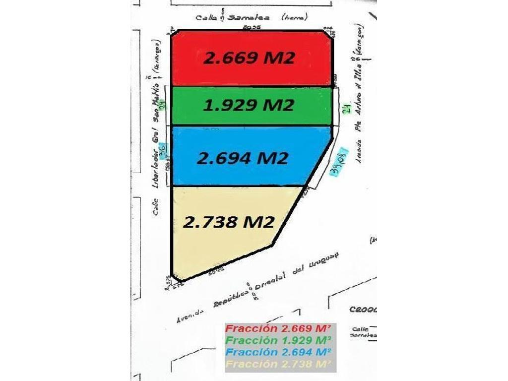 Fracciones Comerciales sobre las Camino de Cintura, Illia, Sarratea y San Martin - San Justo