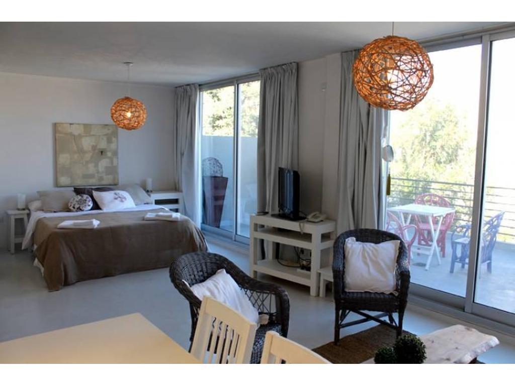 Hermoso estudio con balcón terraza para 3 personas