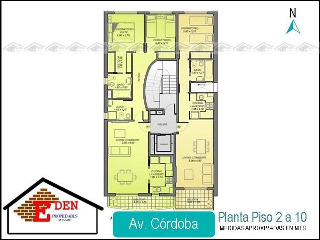 Departamento de 1 dormitorio con balcón en Av. Córdoba y Rodríguez | Entrega 2019