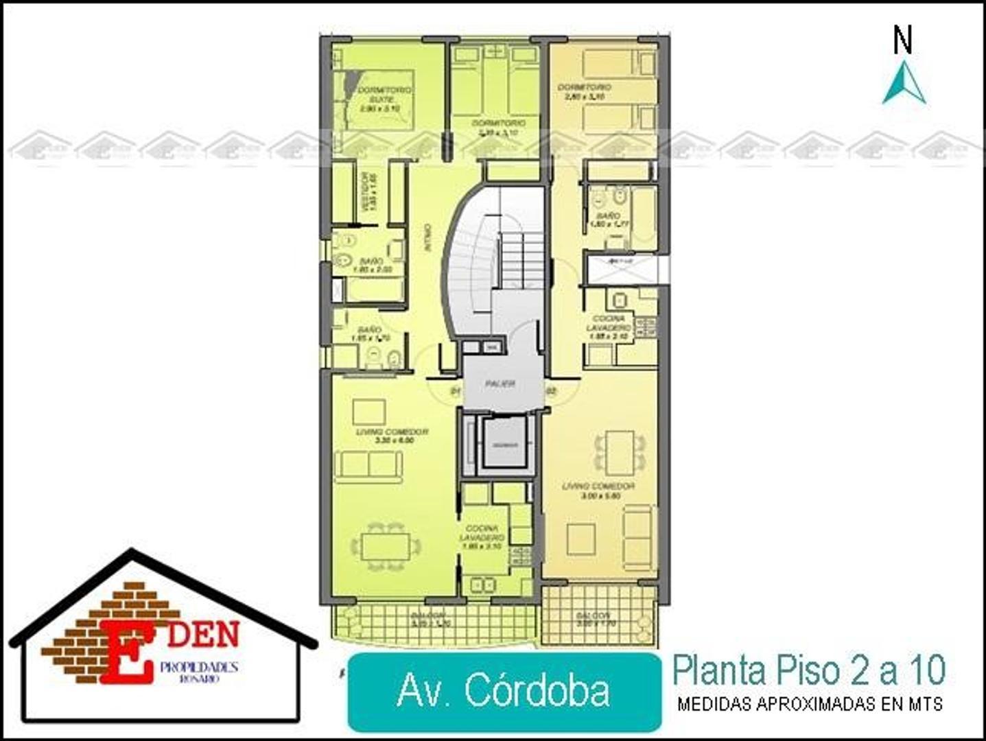 Departamento de 1 dormitorio con balcón en Av. Córdoba y Rodríguez   Entrega 2019