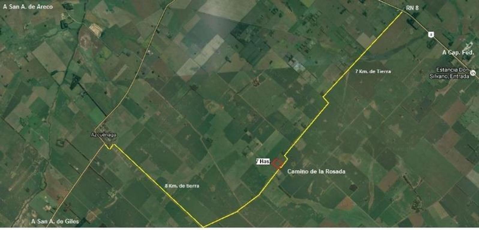 Chacra 7 Has con vivienda - En San Andrés de Giles - A 7 Km. de RN8
