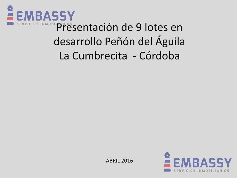 ote ubicado en Peñón del Aguila, La Cumbrecita-Córdoba