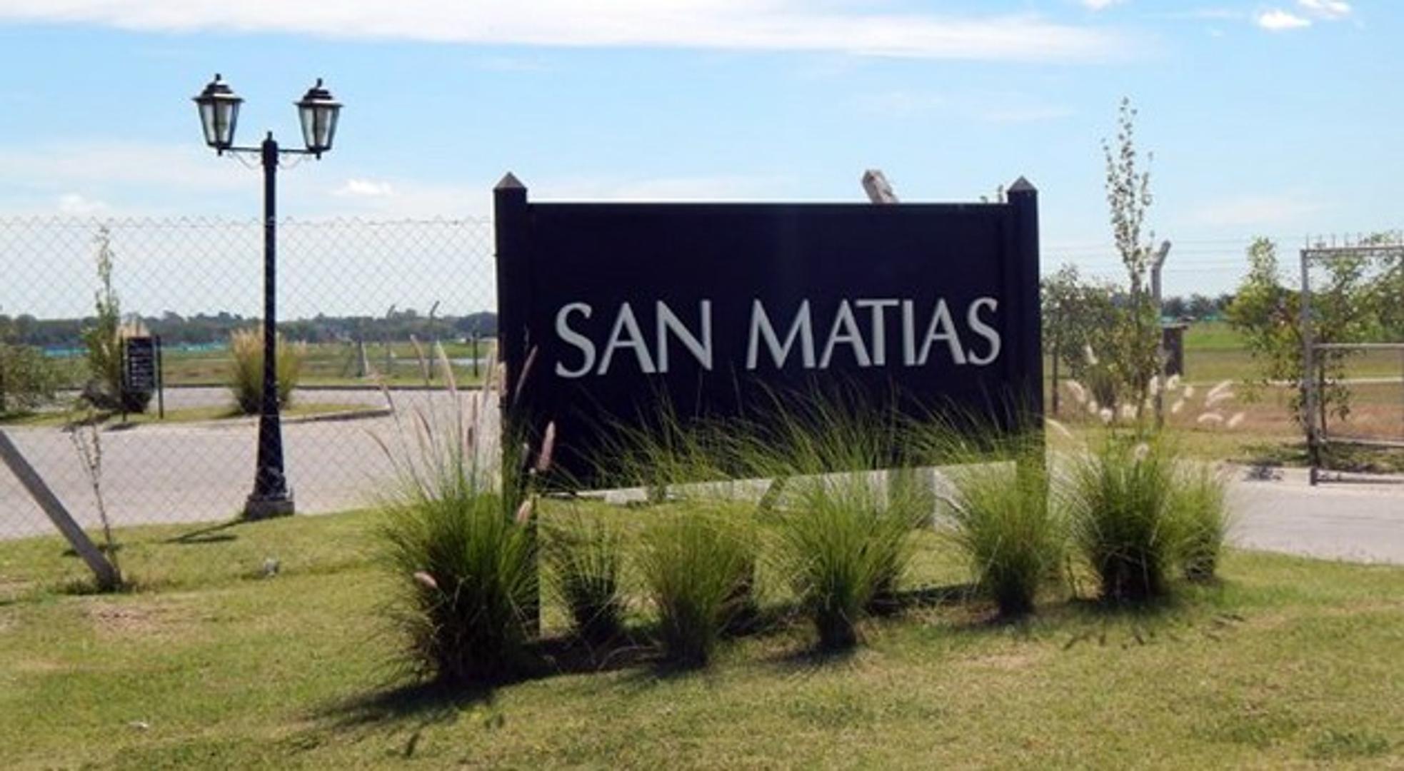 LOTE en VENTA - SAN MATIAS - AREA 5 - 833 mts