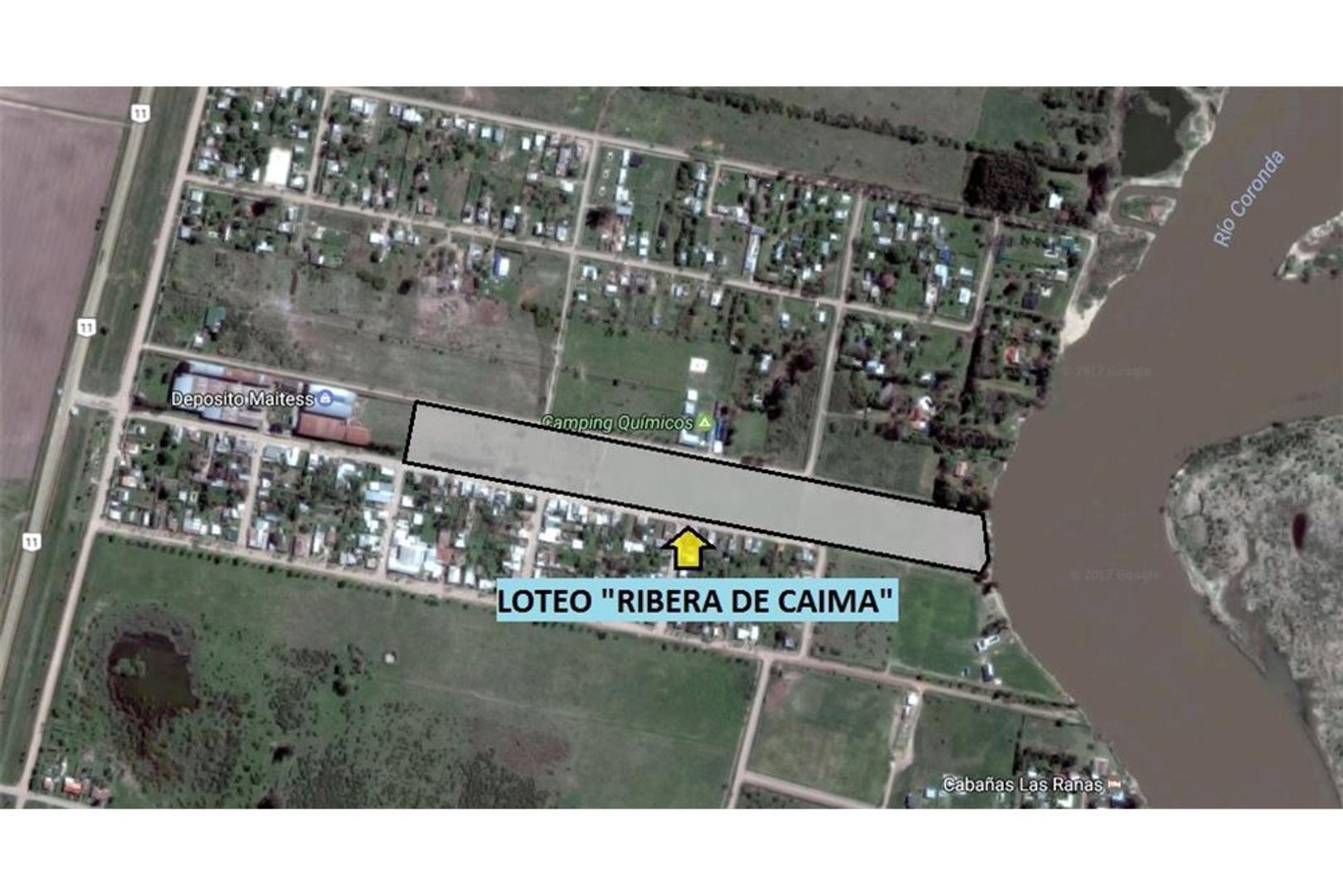 """Terreno a la venta en """"LOTEO RIBERA DE CAIMA"""""""