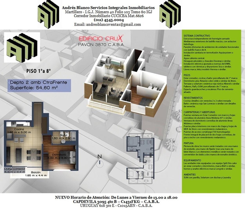 Departamento en Venta en Pavón 3800 - Boedo - Inmuebles Clarín