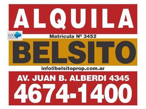 Departamento Tipo Casa Alquiler - PATIO CUBIERTO - 2 HABITACIONES - TERRAZA