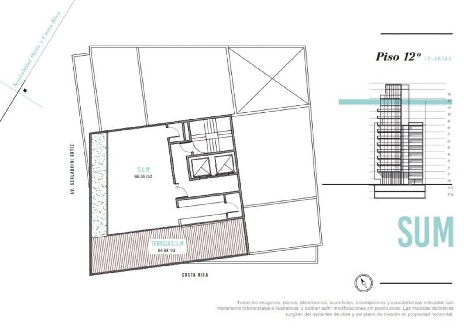 Departamento en Palermo Soho con 2 habitaciones