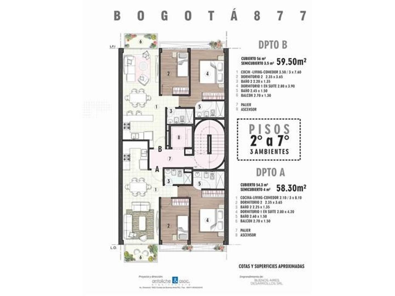 Departamento - 54,30 m²   2 dormitorios   A Estrenar