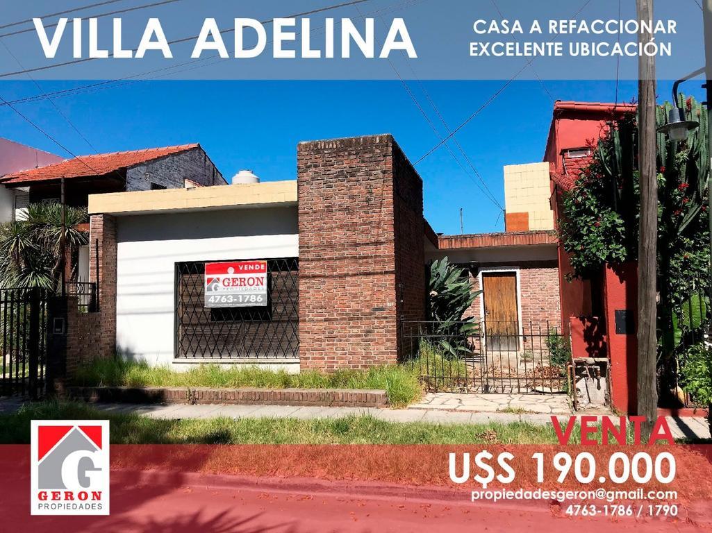 CASA A REFACCIONAR  - 100 MTS AV. DE MAYO / 500 MTS PANAMERICANA