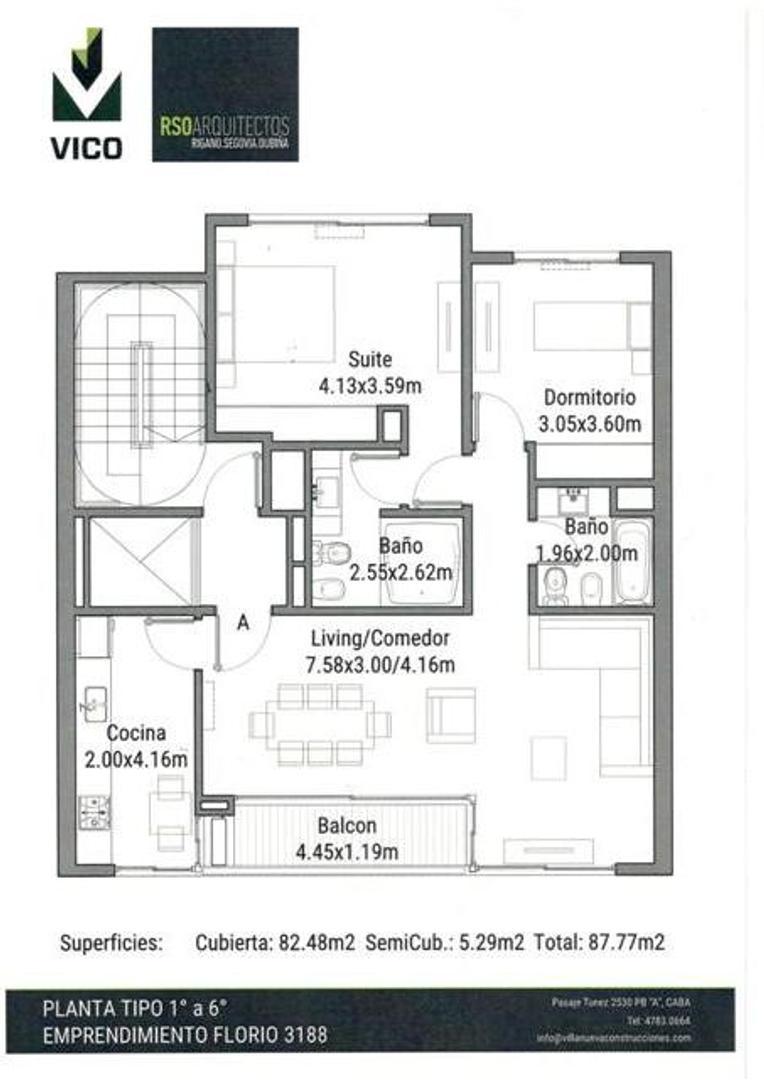 Departamento en Venta - 3 ambientes - USD 237.000