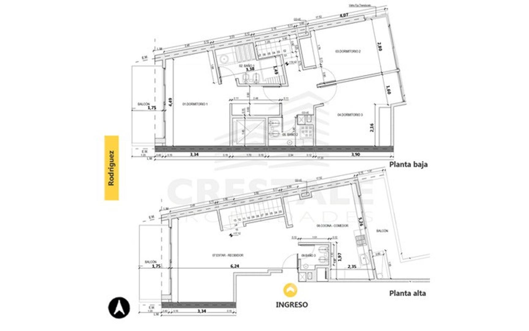 Rodriguez y Pellegrini - Departamento 3 dormitorios a la venta
