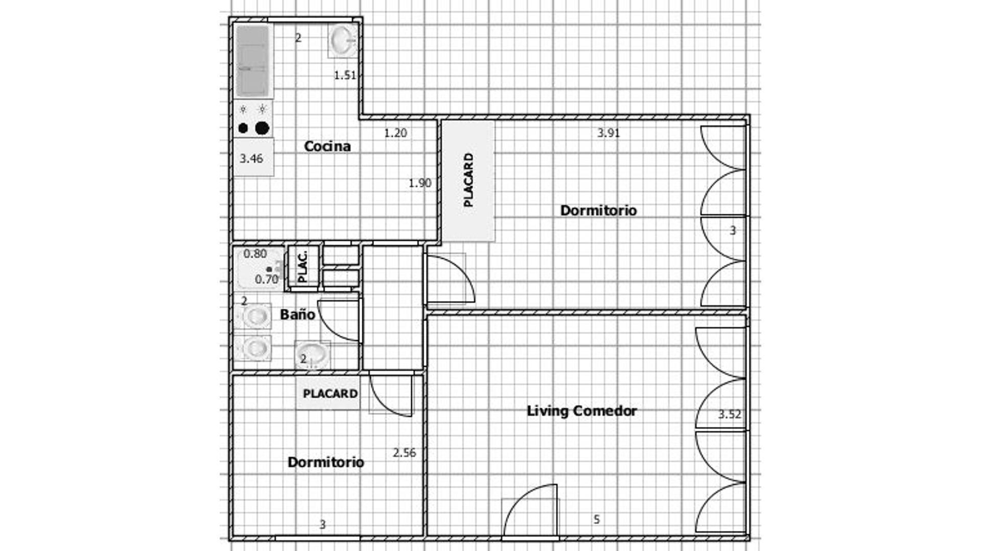 Venta - 3 ambientes - Caballito