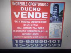 VENDO EXCELENTE LOTE  IDEAL INVERSOR /Floresta/DUEÑO DIRECTO
