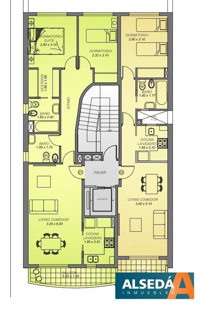 Departamento de 2 dormitorios en construcción, excelente Cordoba al 2600 !!