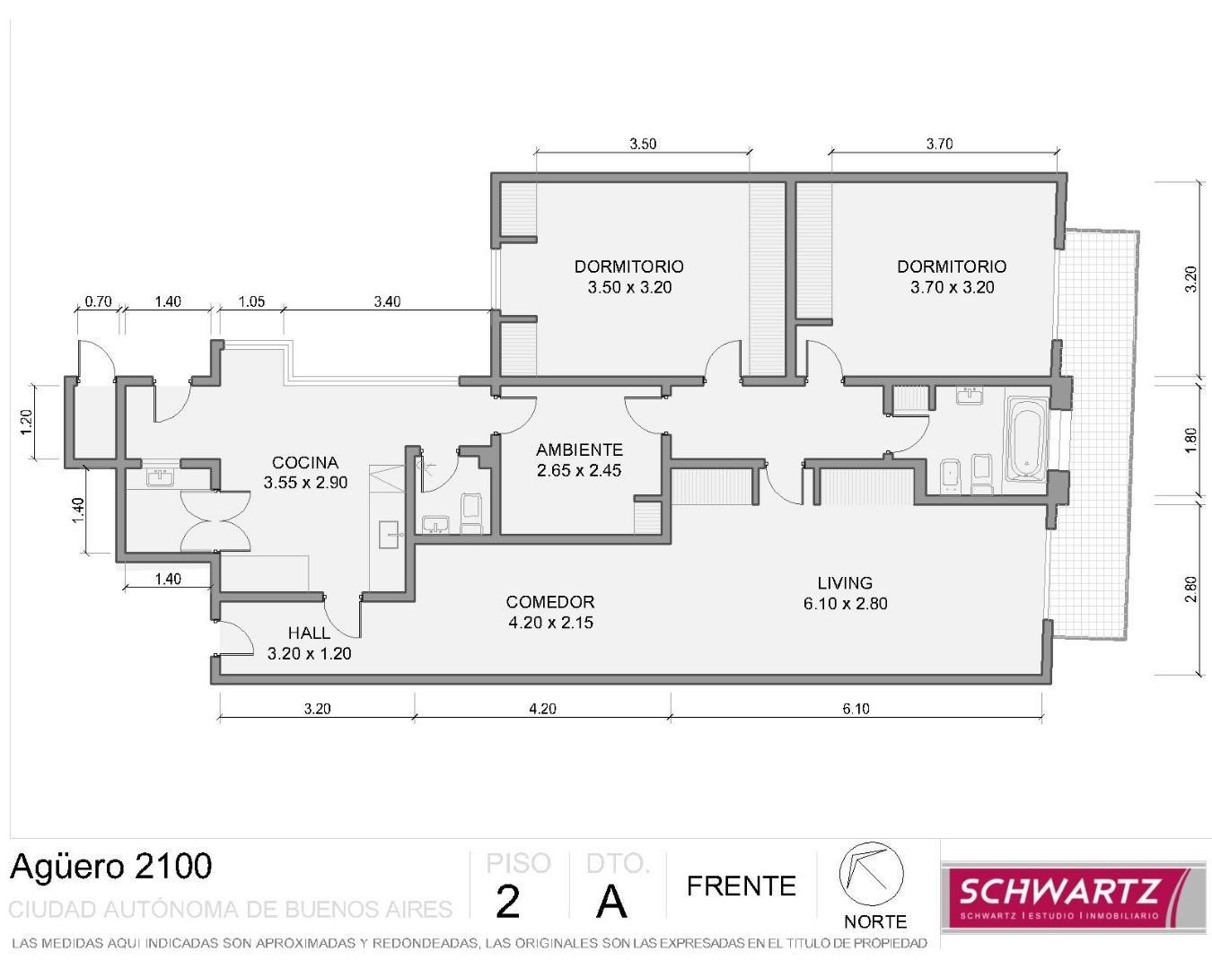 AGUERO 2100 - 4 AMB - FTE - BCON - 108 m2