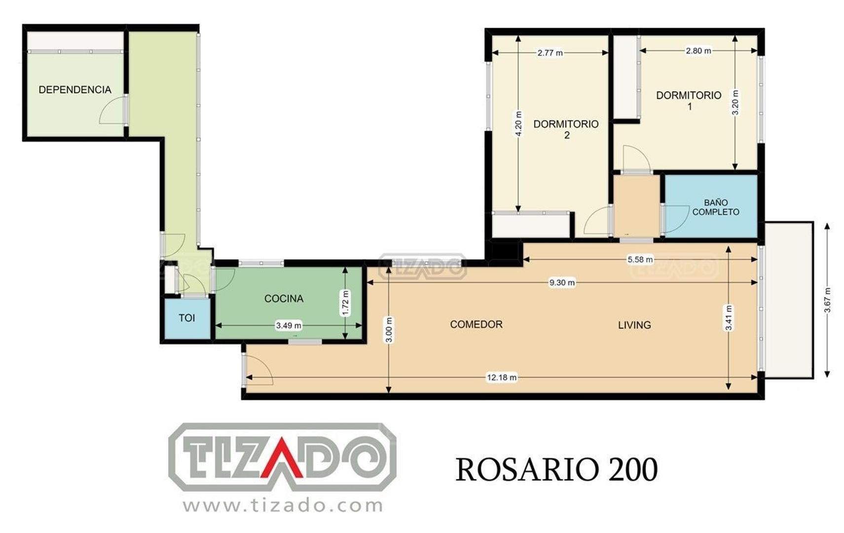 Departamento en Venta - 3 ambientes - USD 220.000