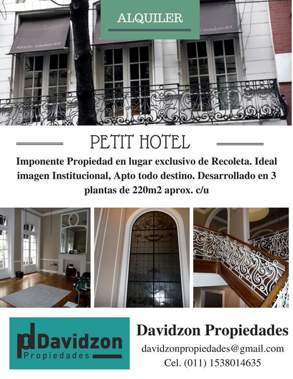 Alquiler Hermoso Edificio de Estilo, ubicado en el corazón de Recoleta, Ideal imagen institucional.