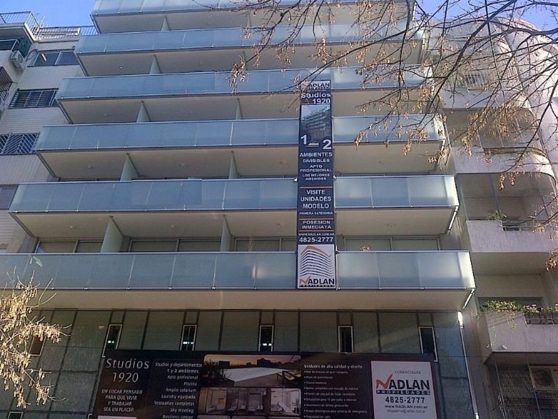 Venta Palermo monoambiente 48 m2 apto profesional contrafrente luminoso. Amenities y aire acondic