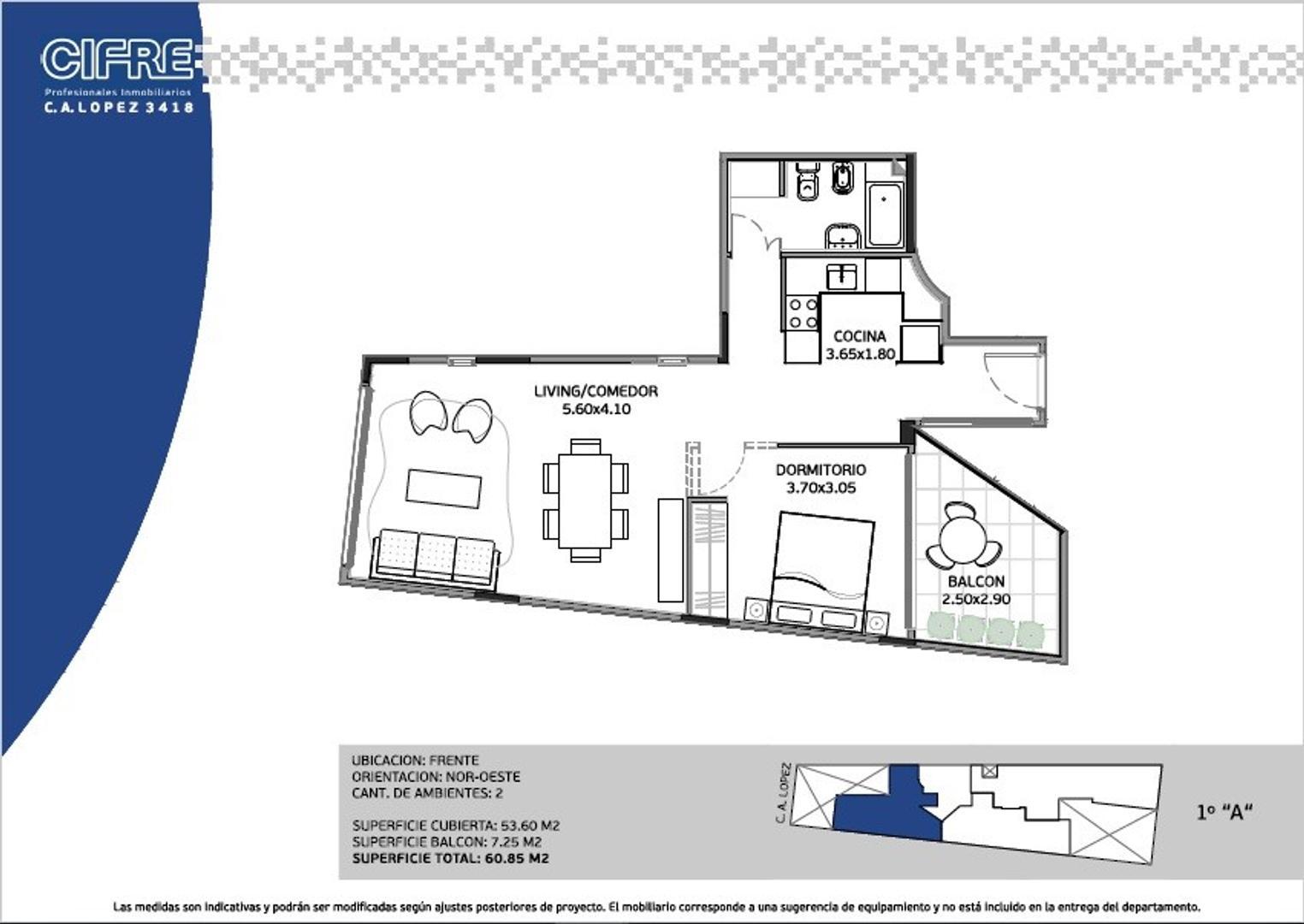 Depto al frente a estrenar de 2 ambientes con patio, entrega septiembre 2018 (SUC. MOSCONI 4574-444)
