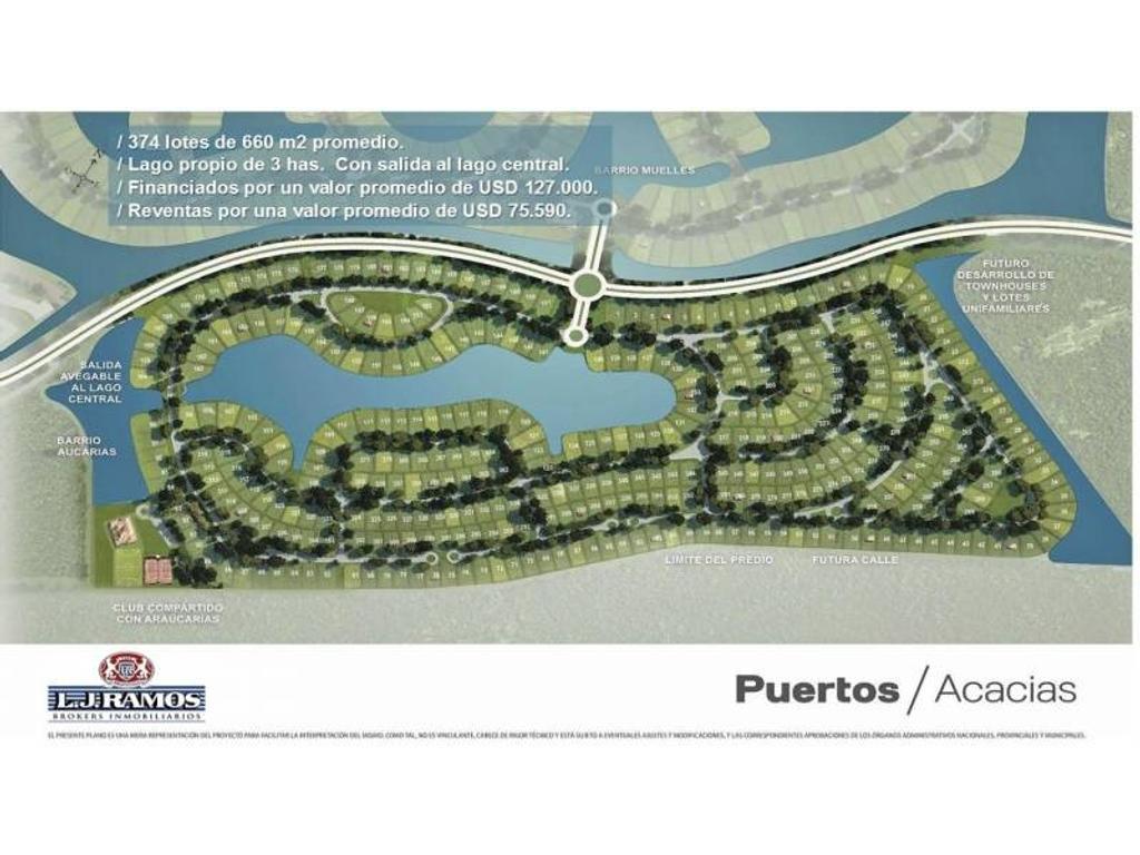 PUERTOS - BARRIO ACACIAS - RAMAL ESCOBAR KM 45 - LOTE 372 - 100