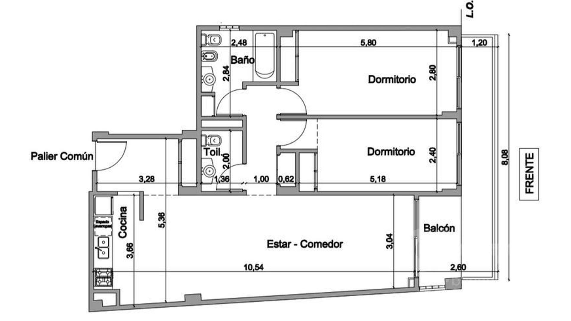 Emprendimiento, 1,2,3 ambientes - Av. Montes de Oca - Barracas