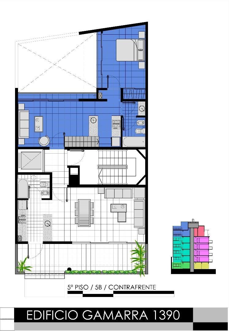 DUEÑO VENDE SIN COMISION depto 2 ambientes con terraza contrafrente, bajas expensas, luminoso
