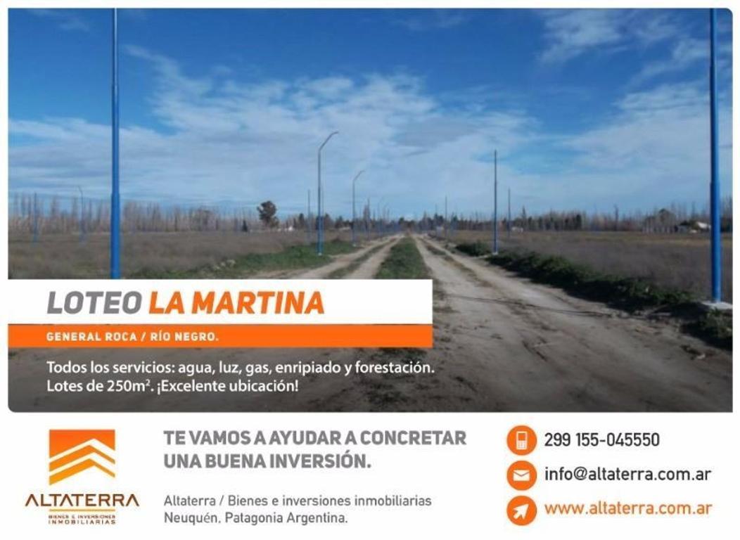 Terrenos en General Roca Loteo La Martina