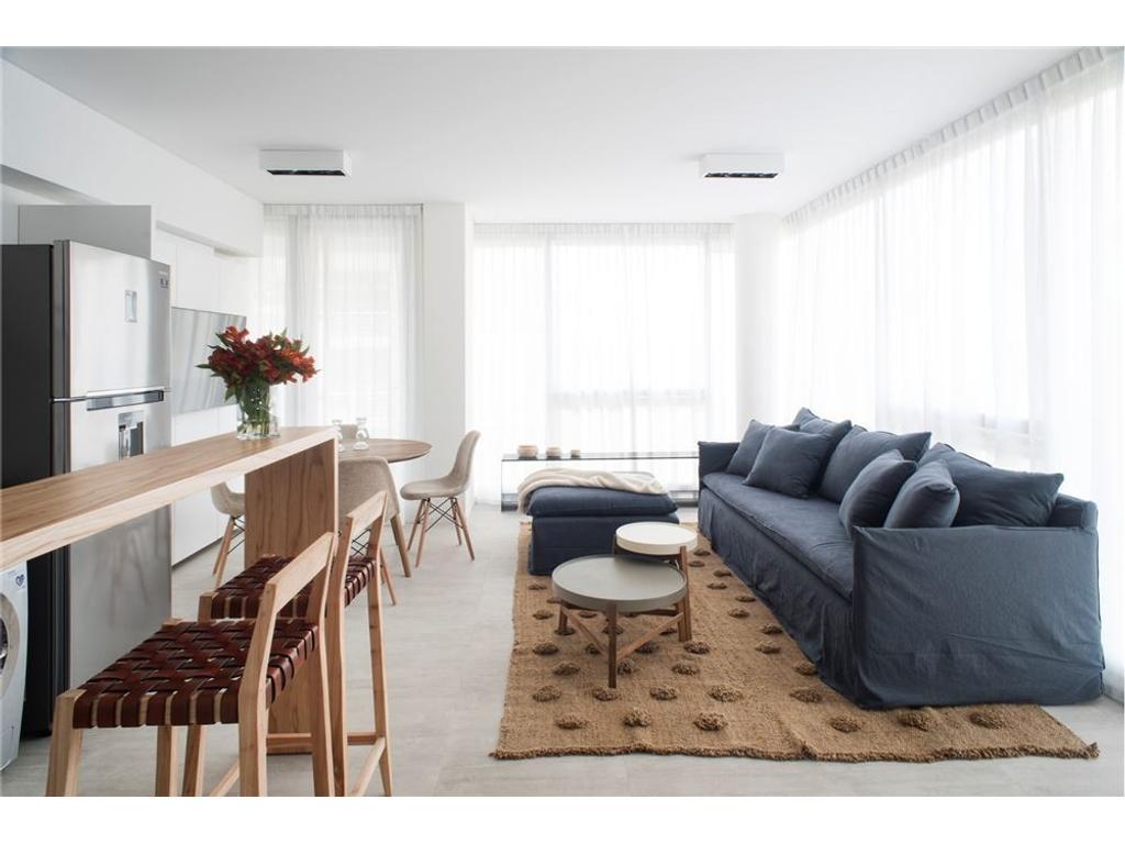2 ambientes amoblado + cochera + amenities