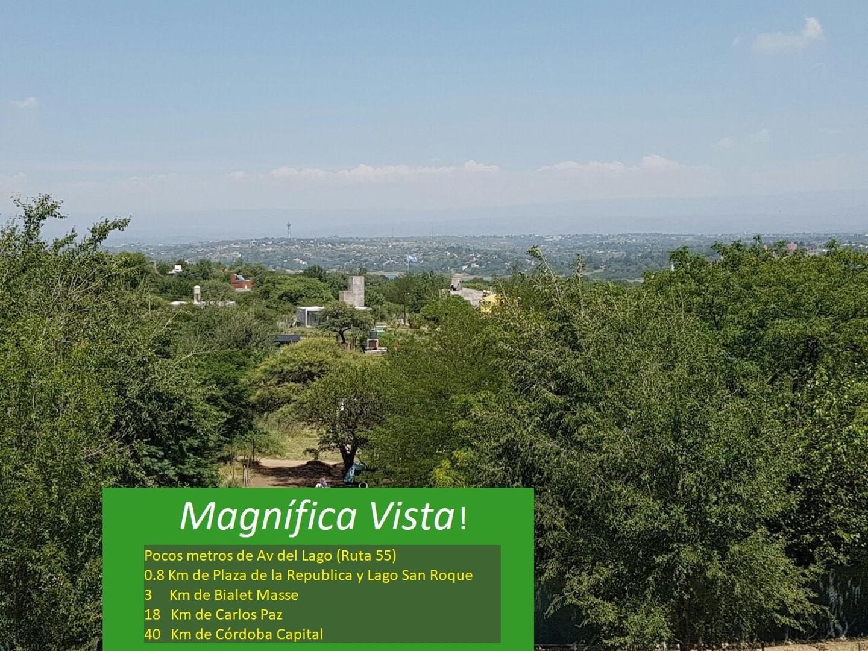 Magnificos 3 terrenos en Villa del Dique San Roque 1680 m2