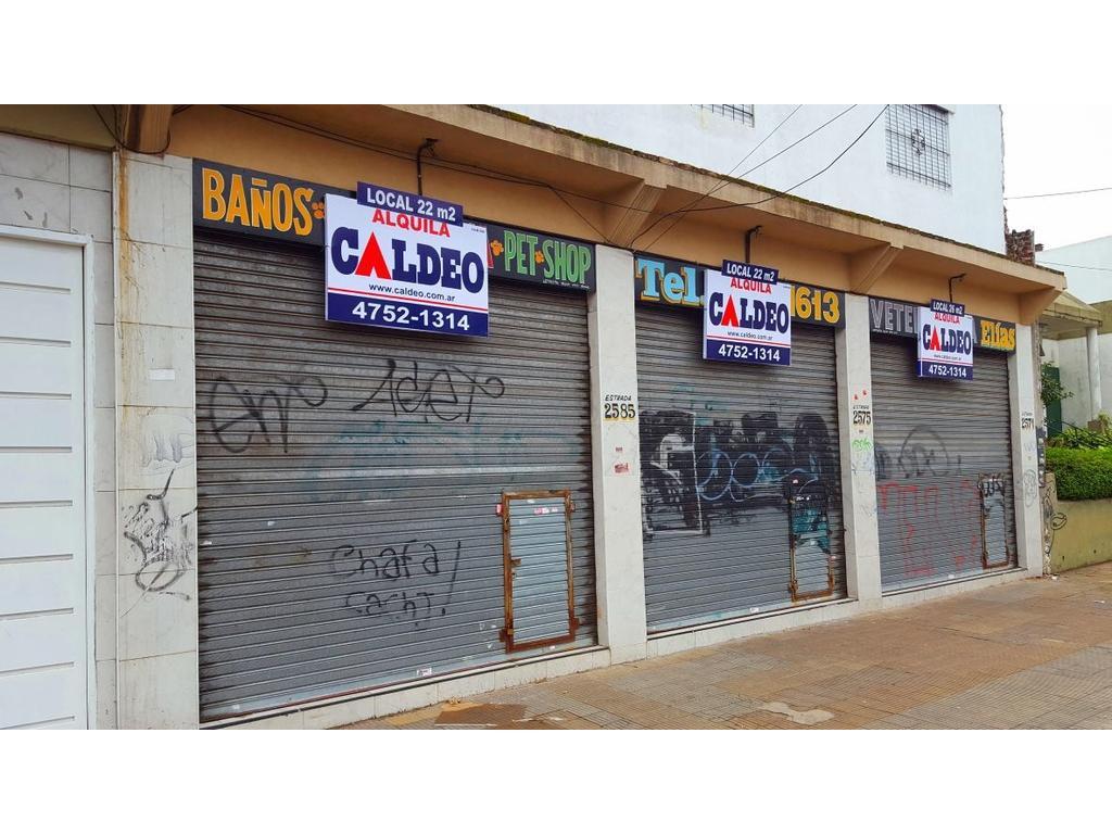 LOCALES COMERCIALES 22 m2 CON VIDRIERA Y PERSIANA
