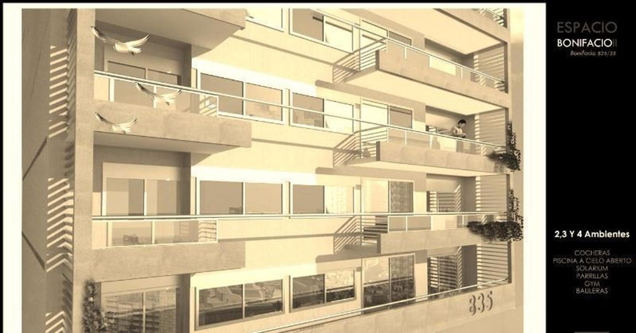 BONIFACIO al 800.piso 1 B. CABALLITO.  2, 3 y 4 ambientes.Edificio de categoría. FINANCIACION