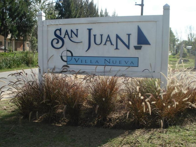 EXCELENTE LOTE EN EL BARRIO SAN JUAN!! Con muelle 12m x 4m.