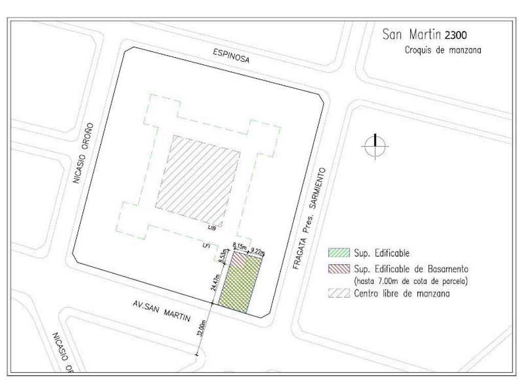 TERRENO EN VENTA  ZONIFICACION C2  DE PATERNAL - SUP. EDIFICABLE  2890 m2