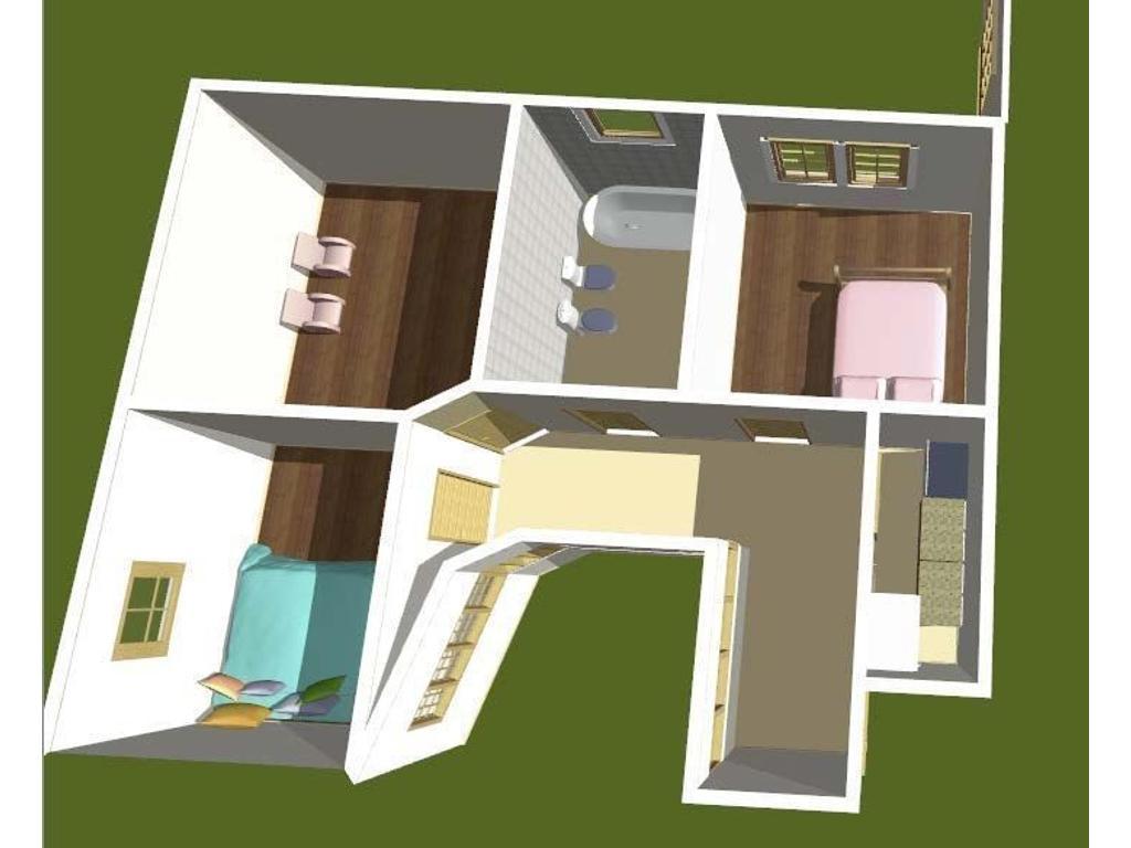 Departamento antiguo primer piso por escalera, amplios ambientes , luminoso.